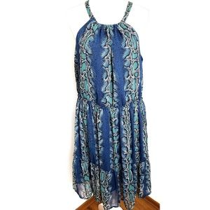Sundance Catalog Snakeskin Halter Midi Dress